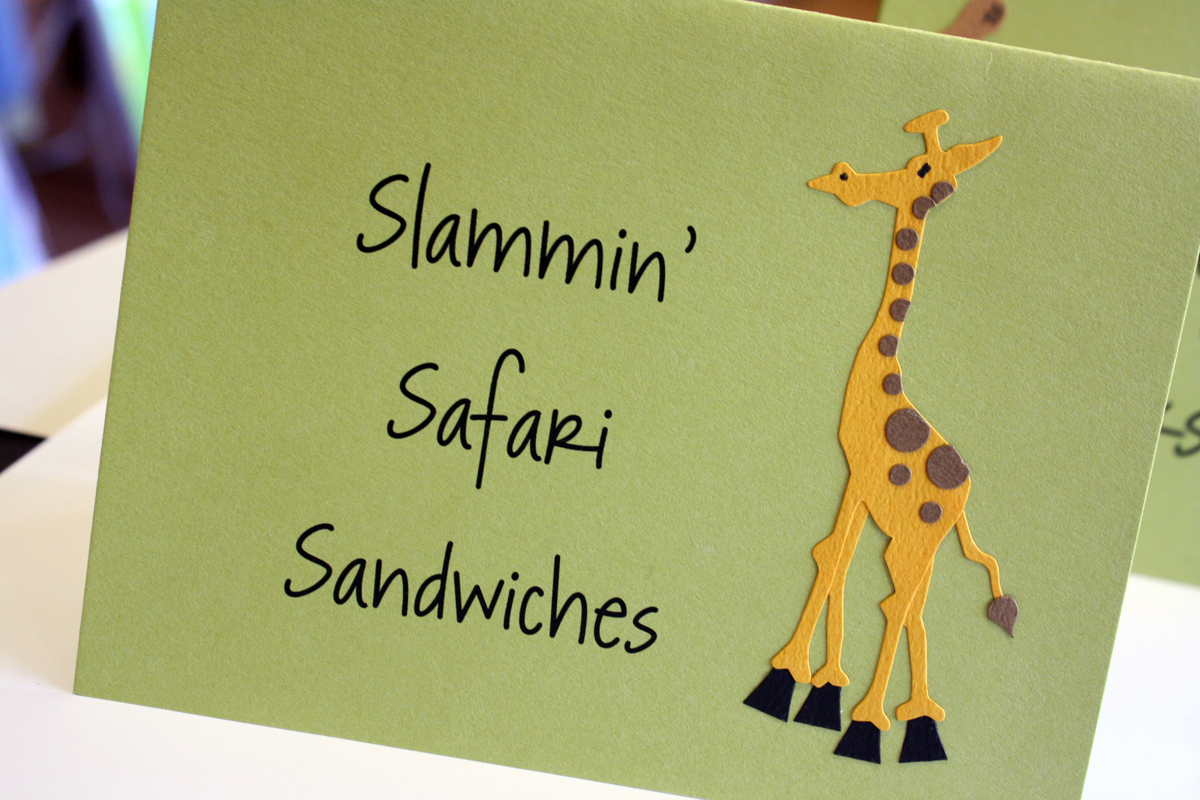 Safari Birthday Table Tents