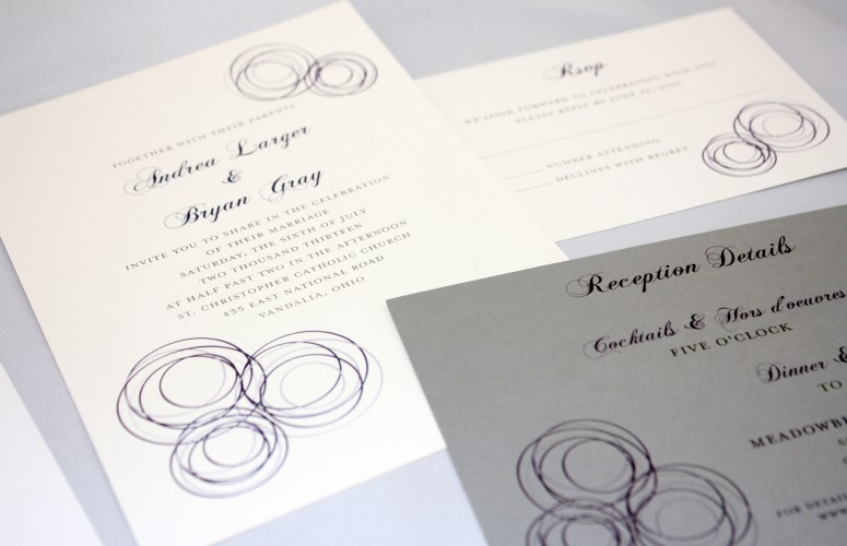 concentric circles invitation