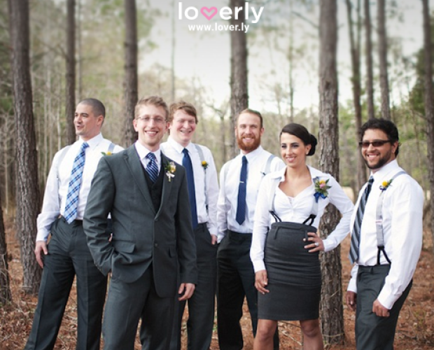 mixed gender bridal party