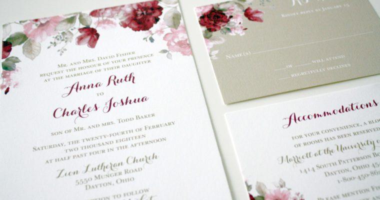 Printed Folded or Flat Blush Wedding Program The Lyndsey Wedding Collection Modern Blush Wedding Ceremony Cards Blush